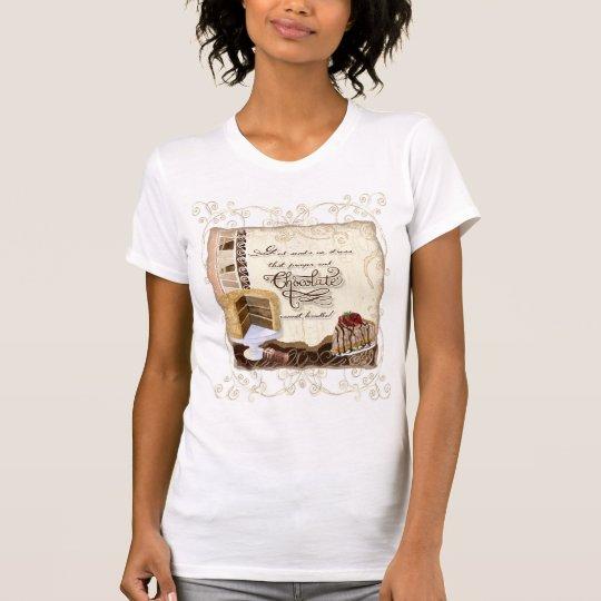 Prayer & Chocolate Woman's T-Shirt