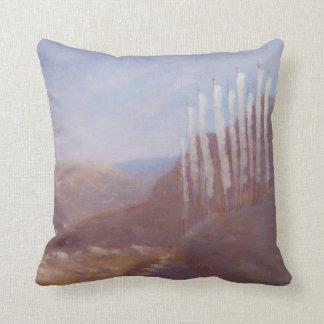 Prayer Flags Bhutan 2012 Throw Pillow