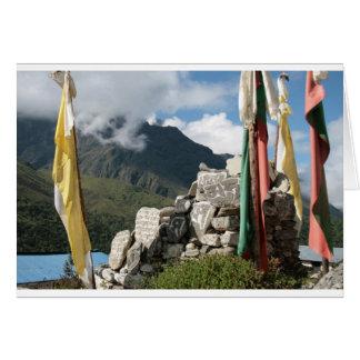 Prayer flags in Nepal Card