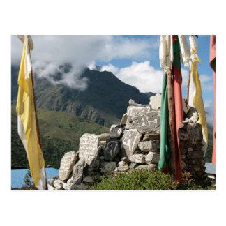 Prayer flags in Nepal Postcard