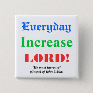 Prayer for Blessings 2 Inch Square Button