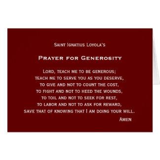 Prayer for Generosity Card