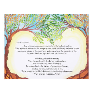 Prayer for the Departed-woman El Malei Rachamim Customized Letterhead