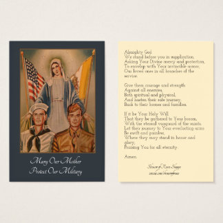 Prayer for those in the Military Service Business Card