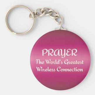 PRAYER - Greatest Wireless Connection Basic Round Button Keychain