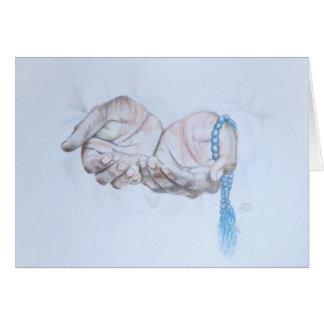 Prayer Hands, religious celebration, handmade Card