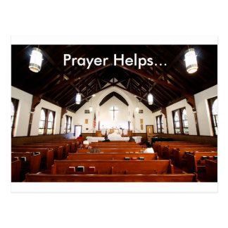 Prayer Helps Postcard