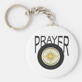 prayer hub basic round button keychain