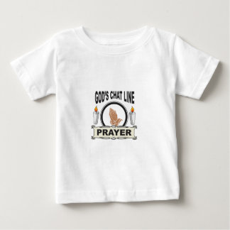 prayer is gods chat line baby T-Shirt