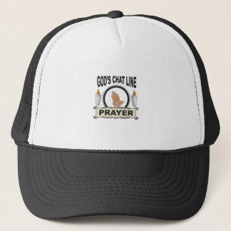 prayer is gods chat line trucker hat