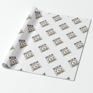 prayer is gods chat line wrapping paper
