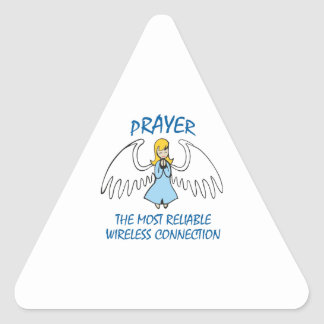PRAYER IS RELIABLE TRIANGLE STICKER