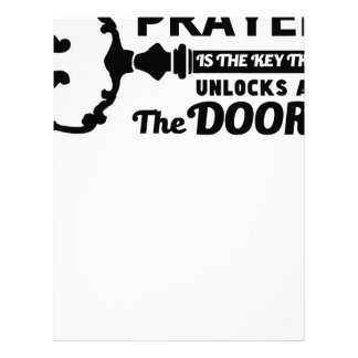 Prayer is the key to all doors letterhead