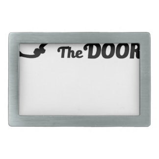 Prayer is the key to all doors rectangular belt buckles