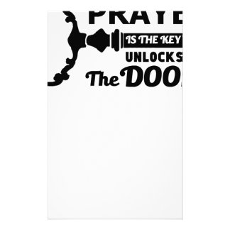 Prayer is the key to all doors stationery