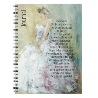 Prayer Journal with Bride Spiral Note Books