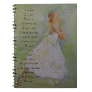 Prayer journal with dancer and poetry