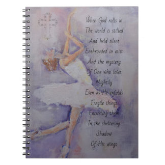 Prayer journal with dancer & poetry