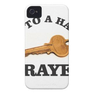 prayer key to happy life iPhone 4 case