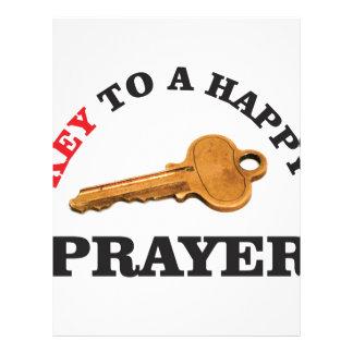 prayer key to happy life letterhead