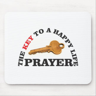 prayer key to happy life mouse pad