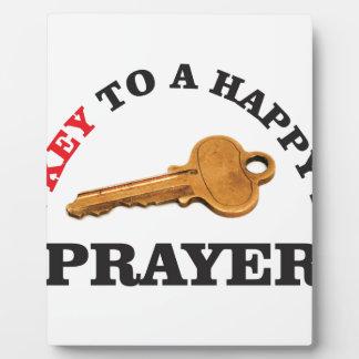 prayer key to happy life plaque