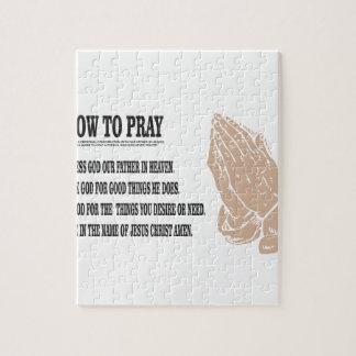 prayer lesson jigsaw puzzle