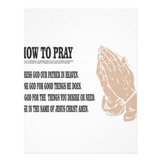 prayer lesson letterhead