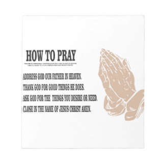 prayer lesson notepad