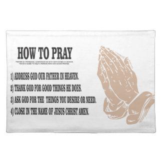 prayer lesson placemat