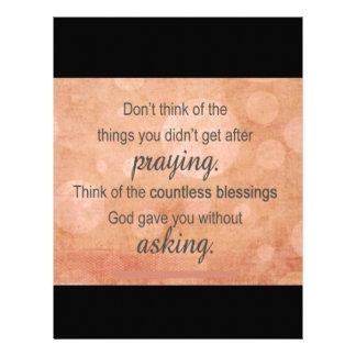 Prayer Letterhead