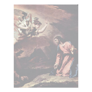 Prayer Of Christ On The Mount Of Olives By Ricci Personalized Letterhead
