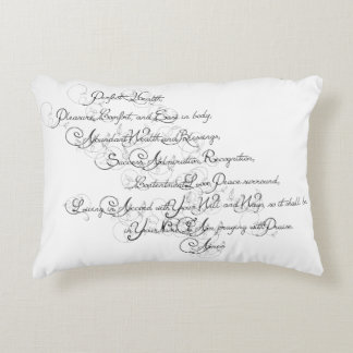 Prayer of Health and Blessings Decorative Pillow