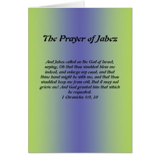 Prayer of Jabez Card