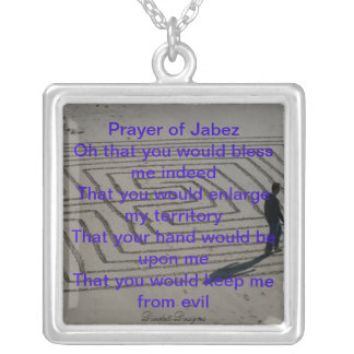 Prayer of Jabez Necklace Labyrinth