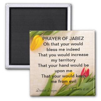 Prayer of Jabez Tulip Magnet