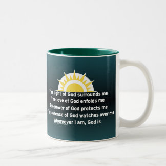 Prayer of Protection Two-Tone Coffee Mug