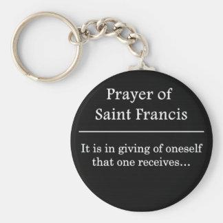 Prayer of Saint Francis Keychain