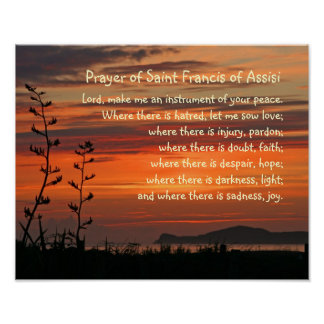 Prayer of Saint Francis of Assisi Poster