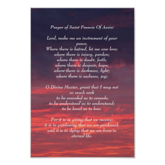 Prayer of Saint Francis Poster
