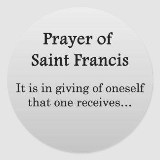 Prayer of Saint Francis Round Sticker