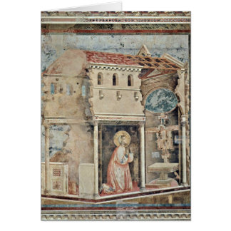 Prayer Of St. Francis By Giotto Di Bondone Cards