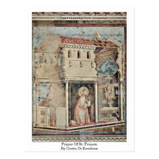 Prayer Of St. Francis By Giotto Di Bondone Postcard
