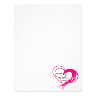 prayer personalized letterhead