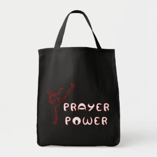 Prayer Power cloth tote bag