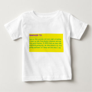 'Prayer Reminder' Baby T-Shirt