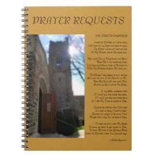 PRAYER REQUEST CHAMBER POEM NOTEBOOKS
