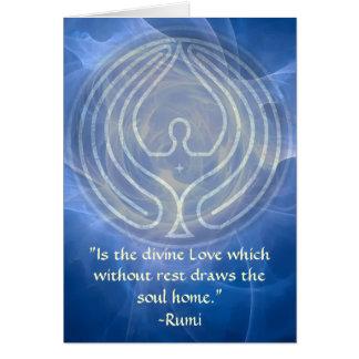 Prayer-Rumi and Poetic Art Card