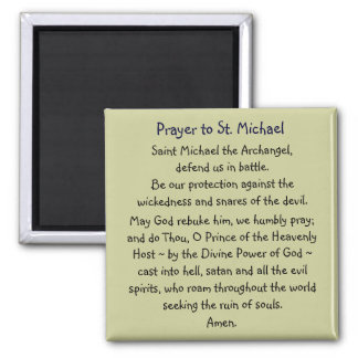 Prayer ~ St. Michael Magnet