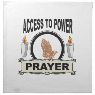 prayer the access to power napkin